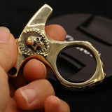Real Brass Knuckles Keychain - Cakra EDC Gadgets