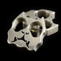 15mm Ultra-Thick Bulldog Real Brass Knuckles Self Defense - Cakra EDC Gadgets