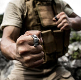Stainless Steel Self Defense Ring - Cakra EDC Gadgets