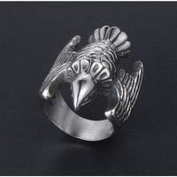 Silver Eagle Full Stainless Steel Self Defense Ring Jewelry - Cakra EDC Gadgets