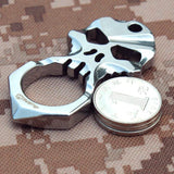 Skull 9R18MOV Stainless Steel Self Defense Keychain Tool - Cakra EDC Gadgets