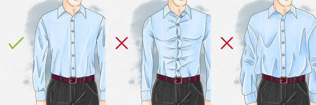 How should a dress shirt fit torso