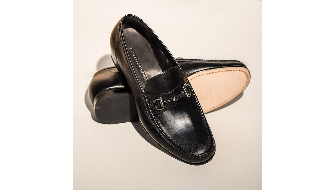 beckett simonon black bernard horsebit loafers