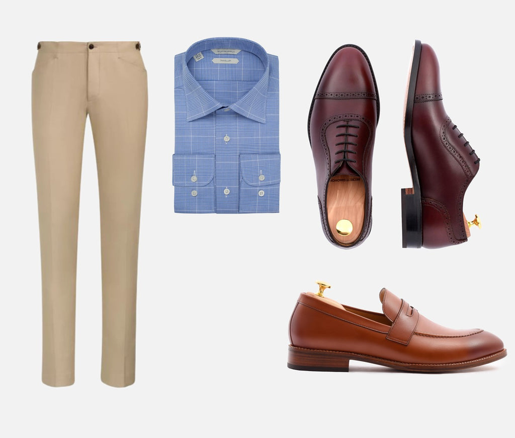 alternative to black shoes chinos
