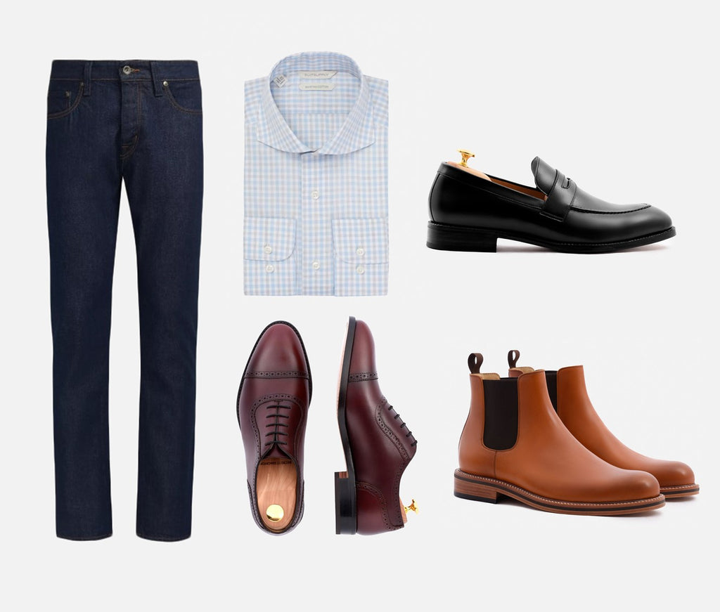 black jeans with dress shoes
