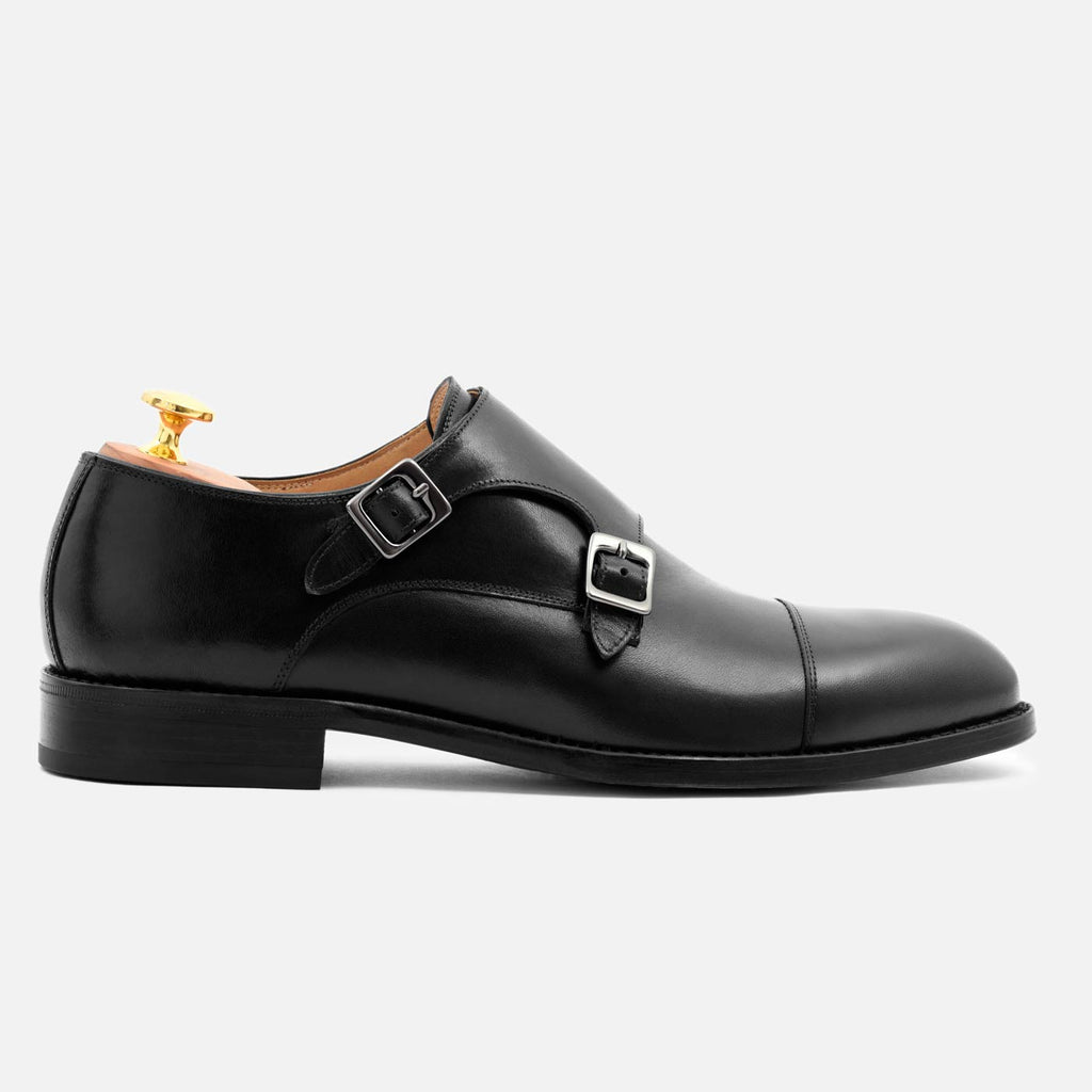 hoyt monkstraps in black