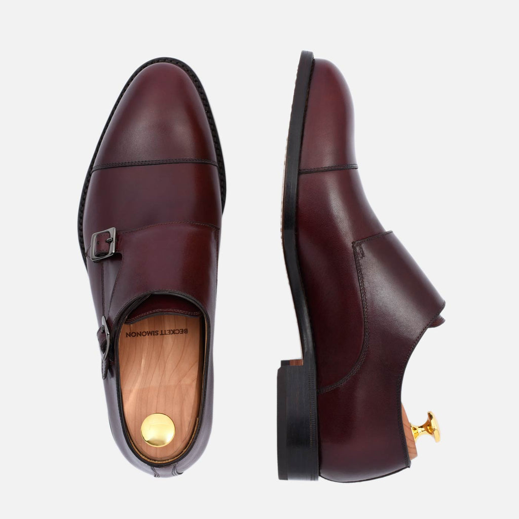 hoyt monkstraps in bordeaux