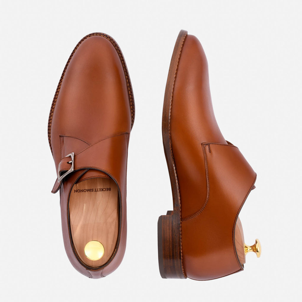 Leonard monkstraps in tan