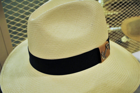 Panama Hat with downward brim