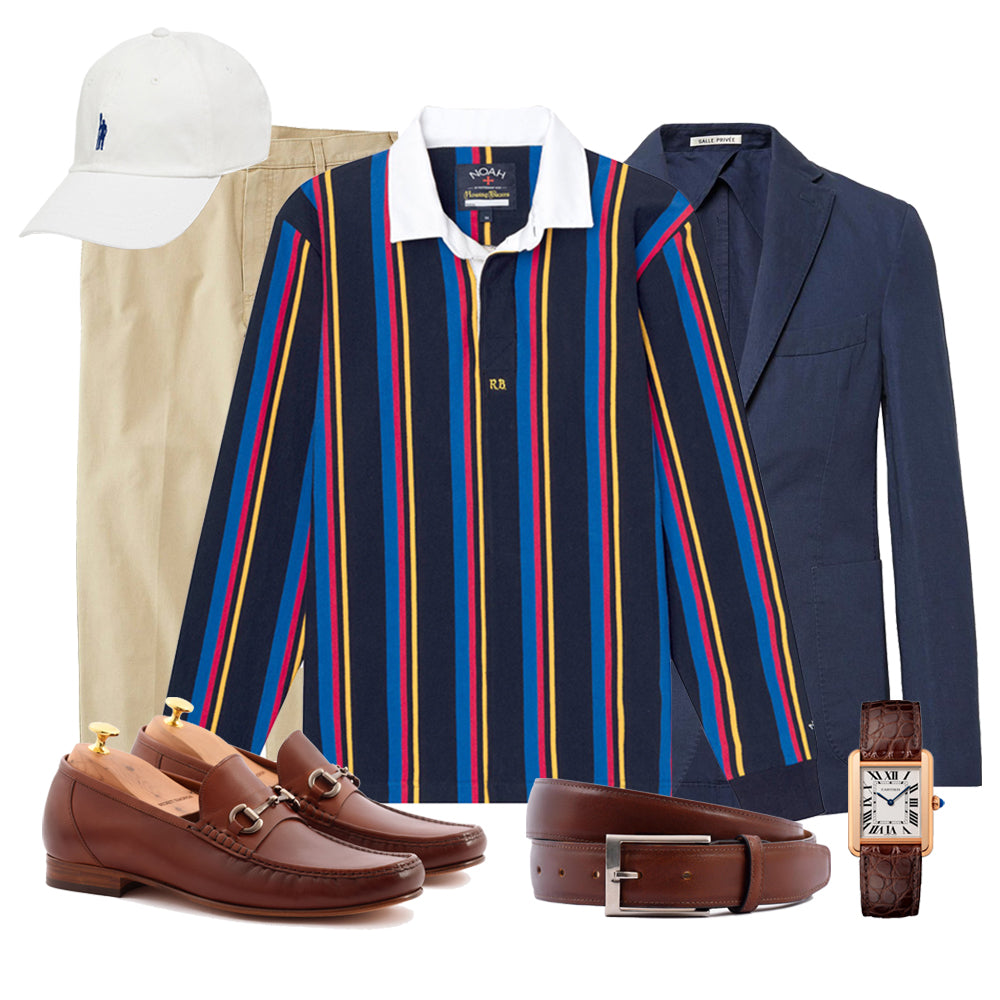 Classic Preppy Rugby look