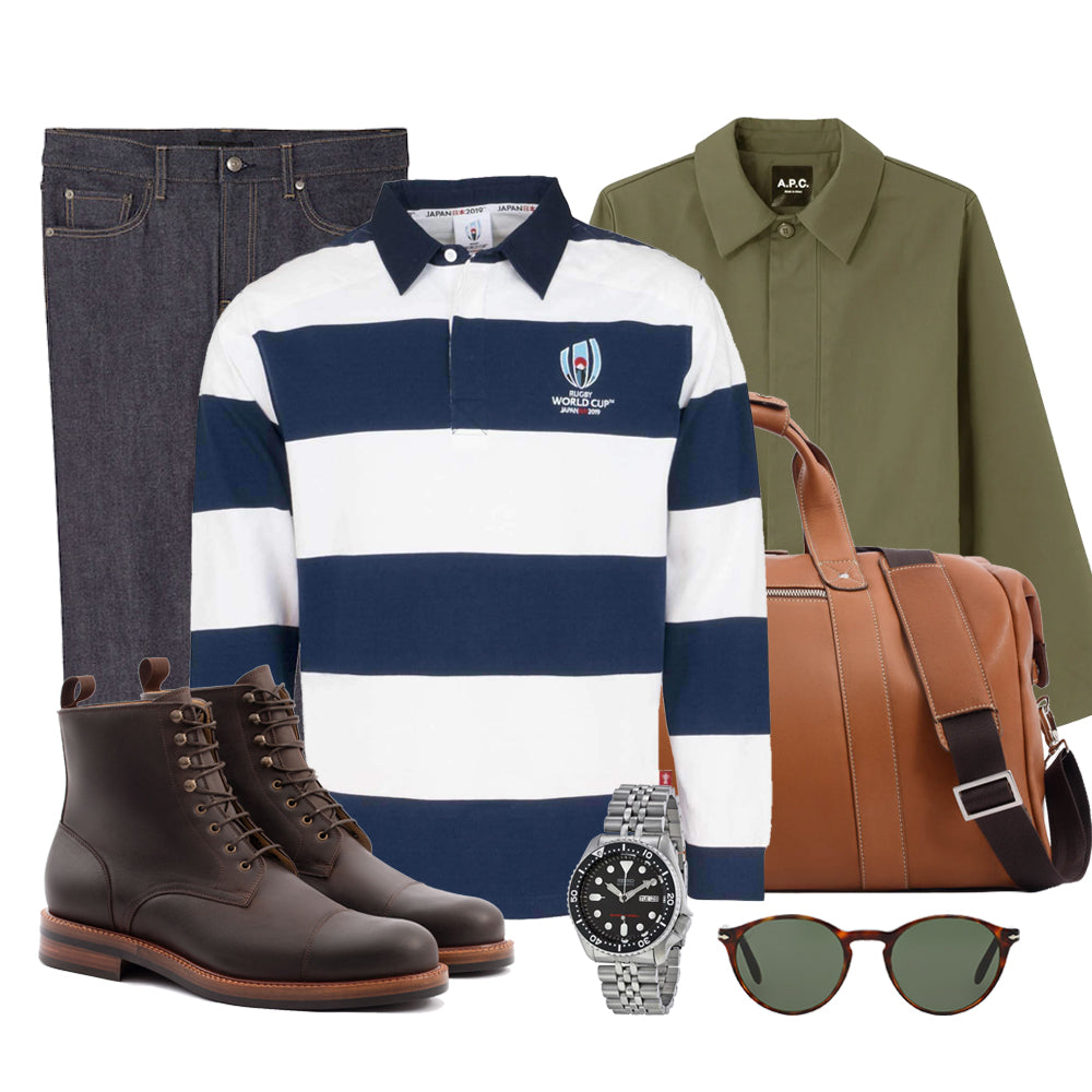 Classic Sporty rugby jersey look