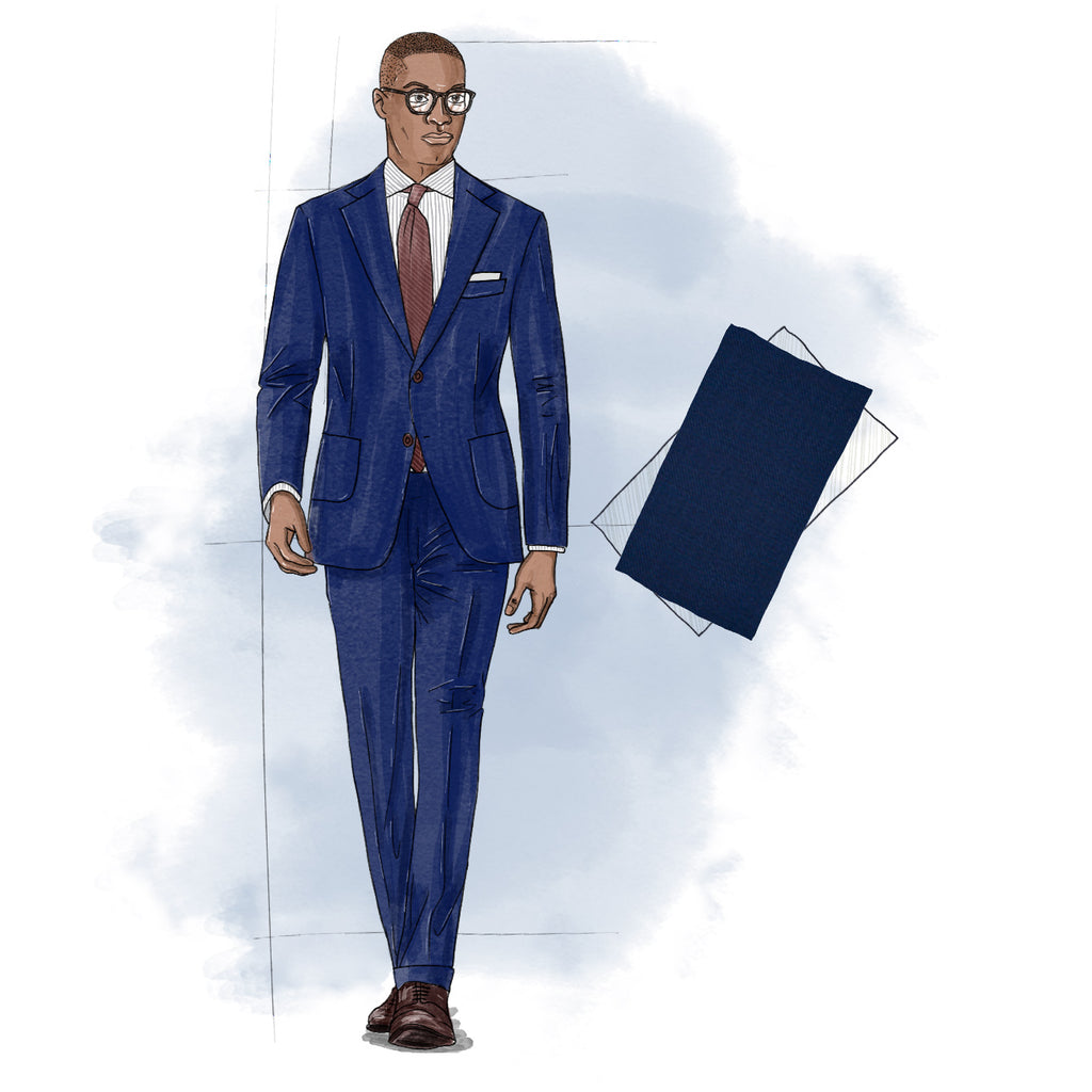 how many suits should a man own navy hopsack suit