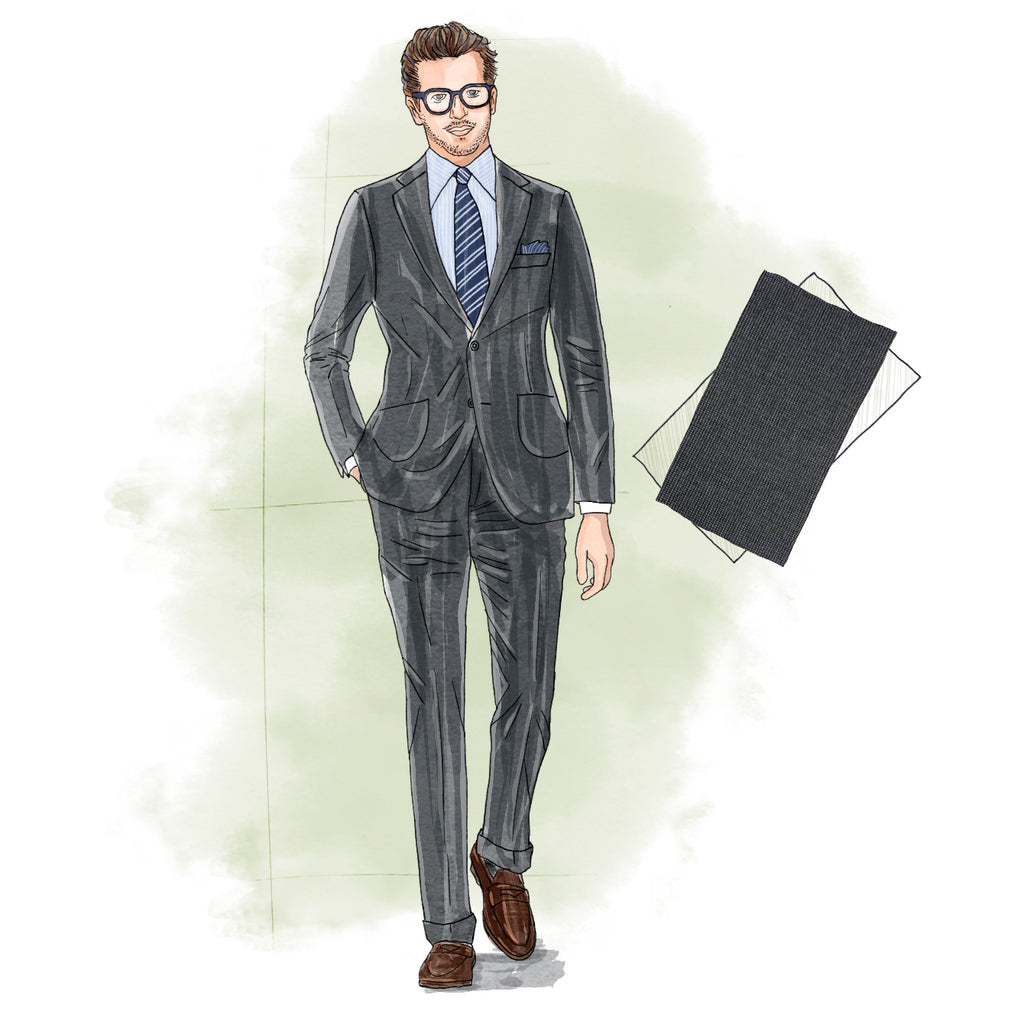 how many suits should a man own mid-gray suit