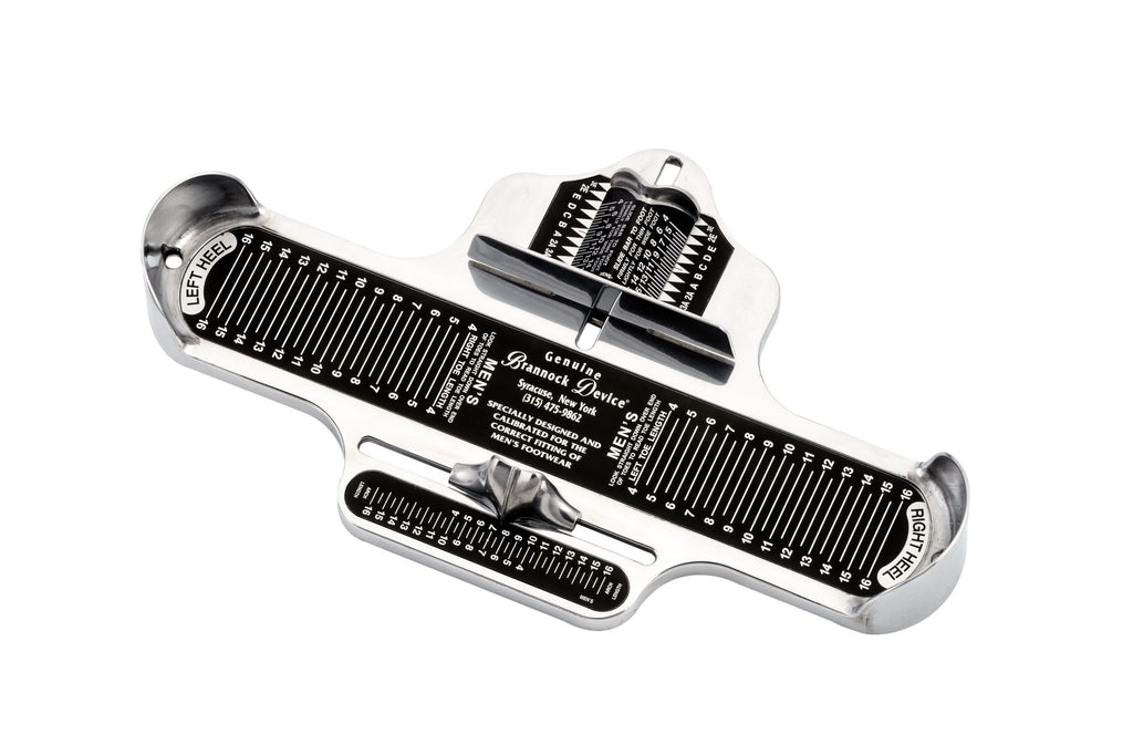 how shoes should fit the brannock device