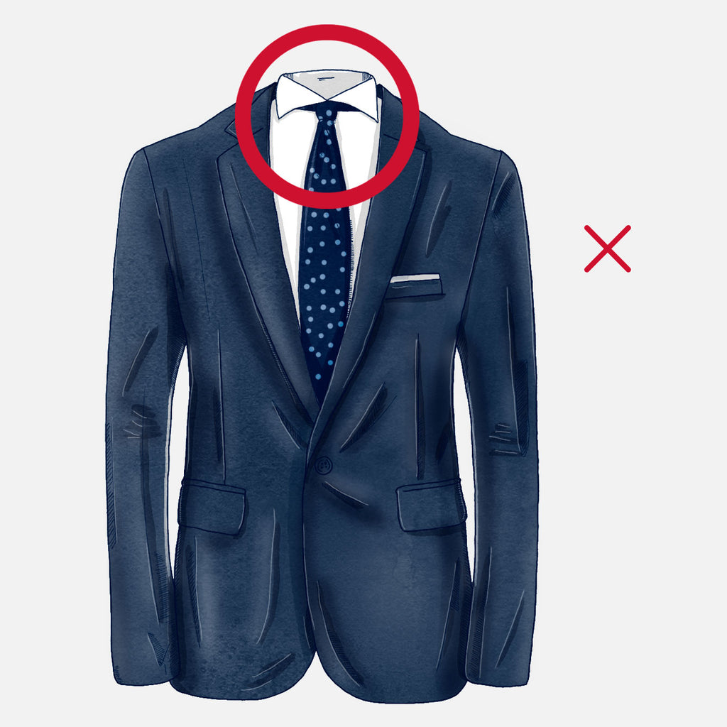 how should your suit fit collar gap bad
