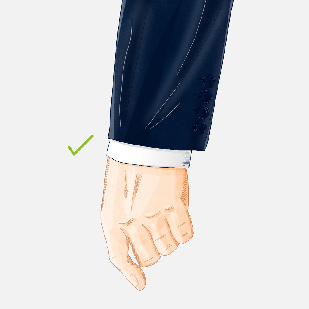 how should your suit fit sleeve good