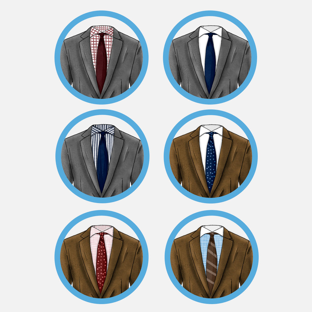 how to match suits shirts and ties light gray and brown suits