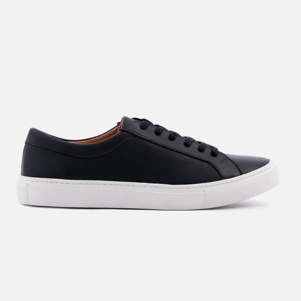 *SECONDS* Alba Low Top Sneakers - Navy Leather