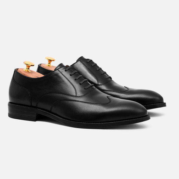 *SECONDS* Wright Austerity Brogue - Calfskin Leather - Black