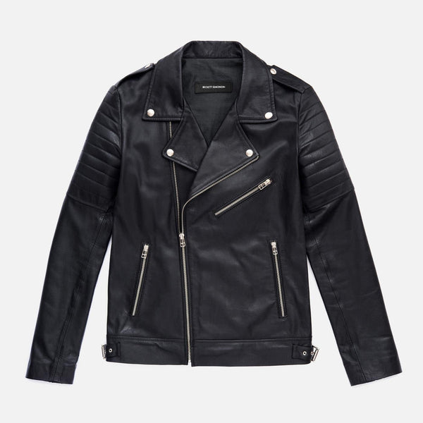 *SECONDS* Atlas Biker Jacket - Full-grain leather - Black