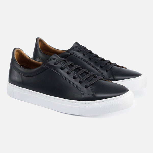 *SECONDS* Alba Low Top Sneakers - Black Leather