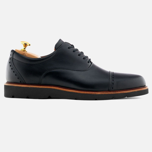 *SECONDS* Wallis Oxford - Calfskin Leather - Black