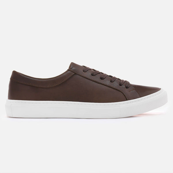 *SECONDS* Alba Low Top Sneakers - Brown Leather