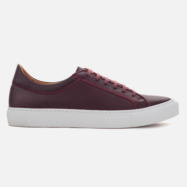 *SECONDS* Low Top Sneakers - Burgundy Leather