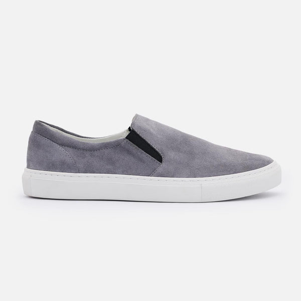 *SECONDS* Bailey Slip-on Sneakers - Grey Suede