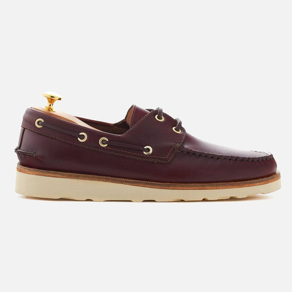 *SECONDS* Norton Boat Shoes - Pull-up Leather - Merlot
