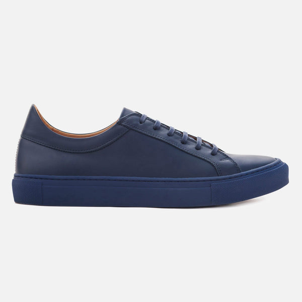 *SECONDS* Low Top Sneakers - Navy Leather