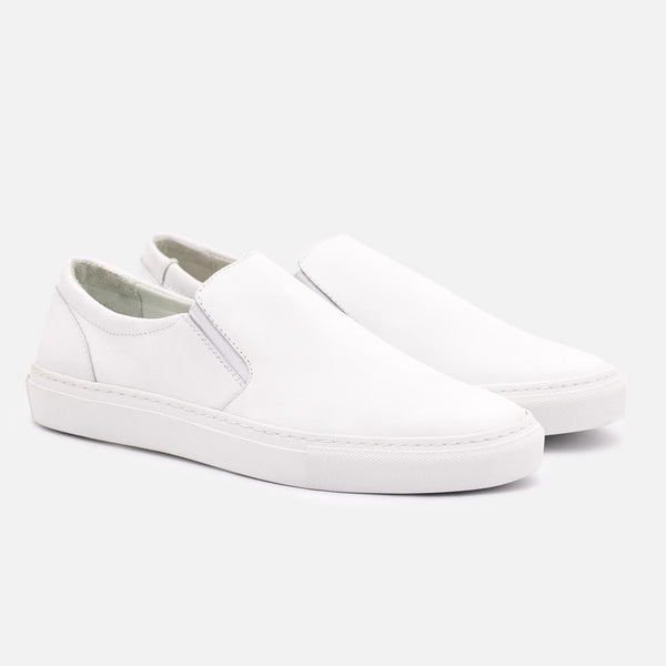 *SECONDS* Bailey Slip-on Sneakers - White Leather