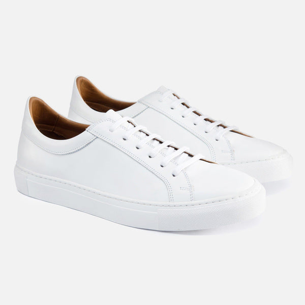*SECONDS* Alba Low Top Sneakers - White Leather
