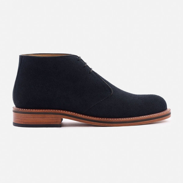 *SECONDS* Laval Chukka Boots - Water Repellent Suede - Navy