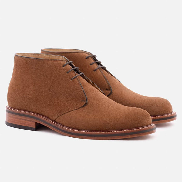 *SECONDS* Laval Chukka Boots - Water Repellent Suede - Chestnut