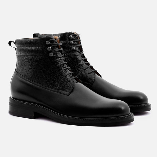 *SECONDS* Columbus Boots - Calfskin Leather - Black