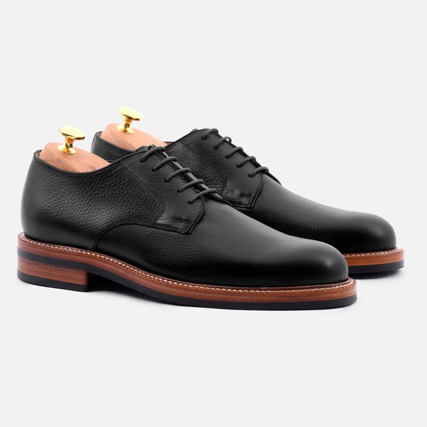 *SECONDS* Dunham Derby - Tumbled Leather - Black