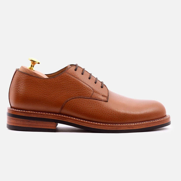 *SECONDS* Dunham Derby - Tumbled Leather - Tan