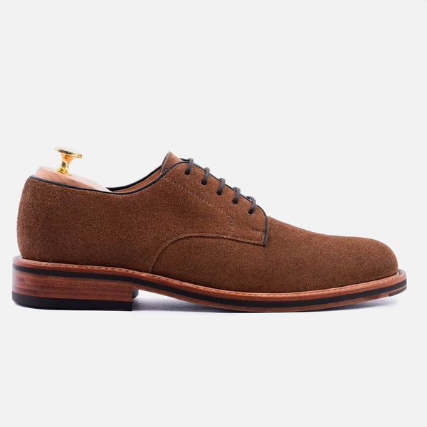 *SECONDS* Dunham Derby - Water repellent Suede - Chestnut