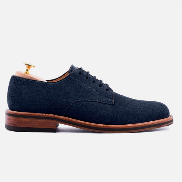 *SECONDS* Dunham Derby - Water repellent Suede - Navy