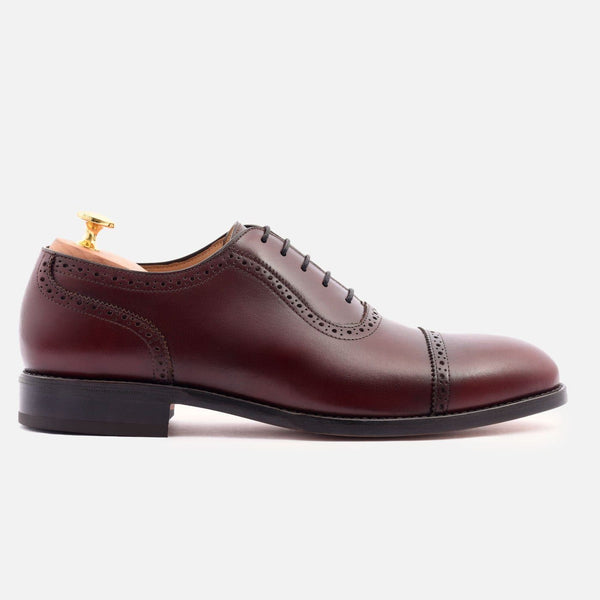 *SECONDS* Durant Oxford Brogues - Calfskin Leather - Bordeaux