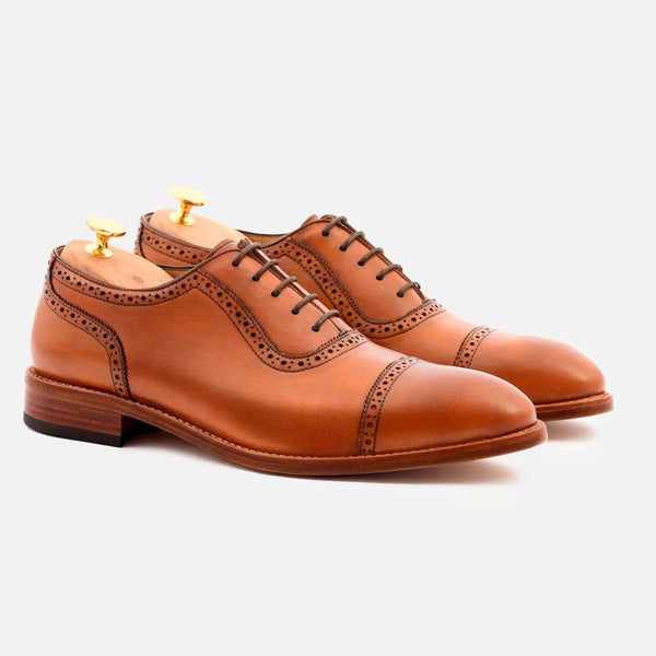 *SECONDS* Durant Oxford Brogues - Calfskin Leather - Tan