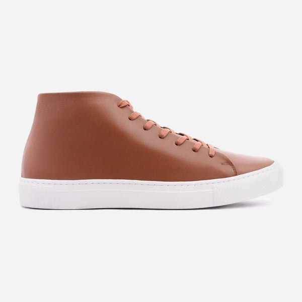 *SECONDS* Reid High Top Sneakers - Tan Leather