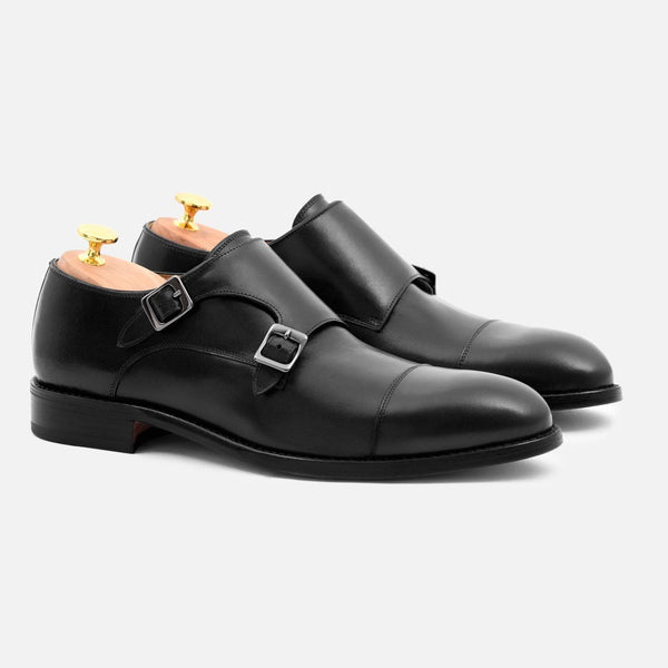 *SECONDS* Hoyt Monk-Strap - Calfskin Leather - Black