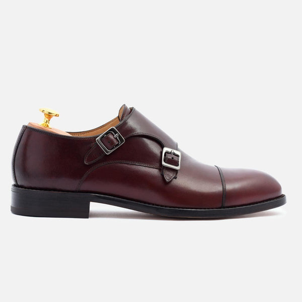 *SECONDS* Hoyt Monk-Strap - Calfskin Leather - Bordeaux