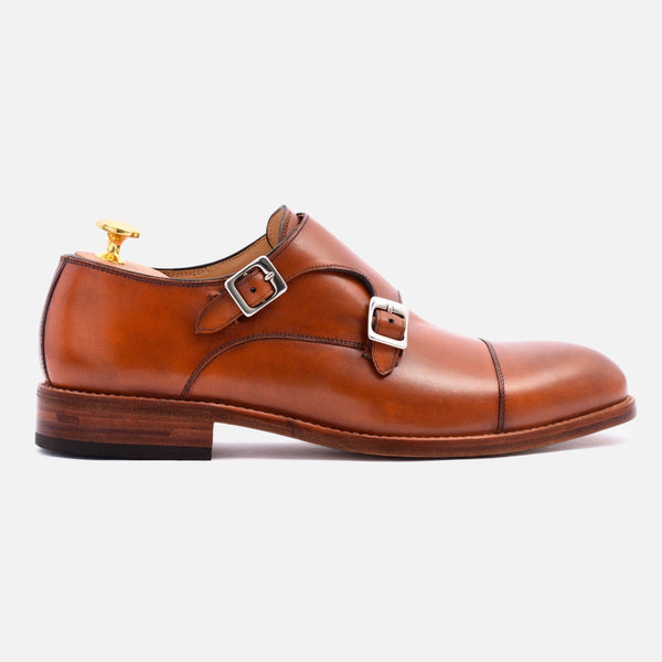 *SECONDS* Hoyt Monk-Strap - Calfskin Leather - Tan