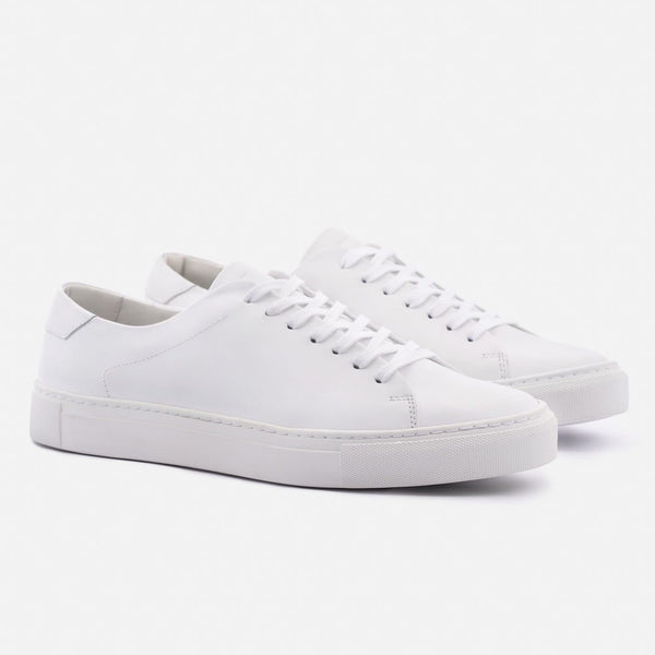 *SECONDS* Reid Low Top Sneakers - White Leather