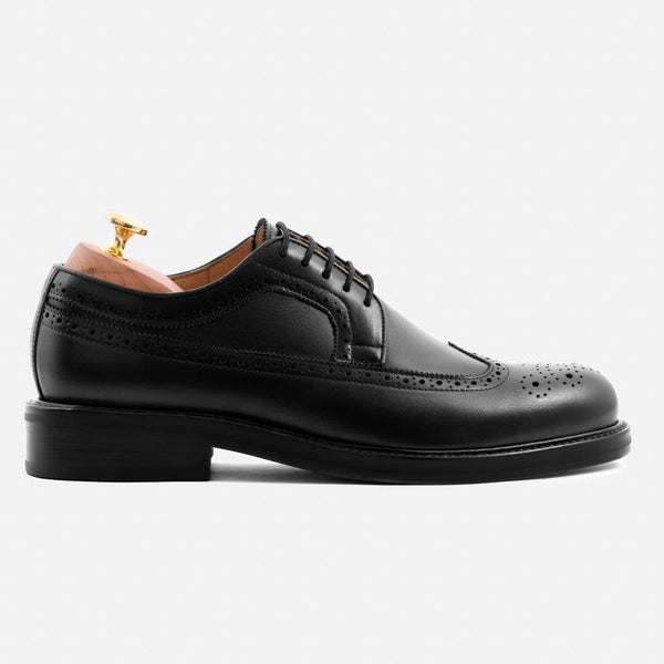 *SECONDS* Royce Longwings - Calfskin Leather - Black