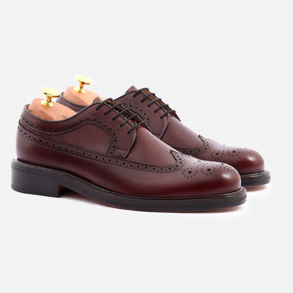 *SECONDS* Royce Longwings - Calfskin Leather - Bordeaux