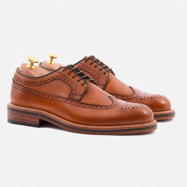 *SECONDS* Royce Longwings - Calfskin Leather - Tan